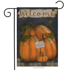 "Pumpkin Patch Welcome Fall Garden Flag Primitive 12.5"" x 18"" Briarwood Lane"