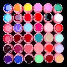 36 Pcs Mix Colors Solid Pure UV Builder Gel Set for Acrylic Nail Art Tips Pink