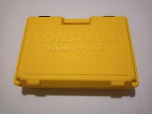 Vintage Fisher Price Construx Yellow Storage Carry Case 1983
