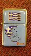 GREEK, LIGHTER, GREECE, FLIP TYPE, OIL FLUID LIGHTER, CUSTOM, DESIGNER SERIES