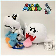 "2X New Super Mario Bros. Plush Dry Bones Skeleton Koopa Boo Soft Toy Doll 6"" NWT"