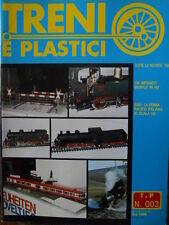 Treni e Plastici n°3 1979 Locomotiva 690 in scala H0 - Impianto murale in H0