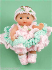 "Itty Bitty Dress Up Fashions, 5"" baby doll clothes crochet patterns - see pics"