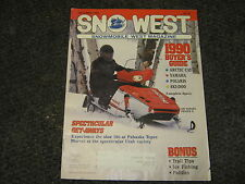 SNO WEST SNOWMOBILE WEST MAGAZINE OCTOBER 1989 BUYERS GUIDE SLED VINTAGE RARE