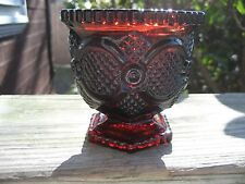 Avon 1876 Cape Cod Collection Ruby Red Cranberry Glass Sugar Bowl antique rare