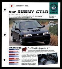 Nissan Sunny GTI-R(Japan 1990-1995) Spec Sheet 1998 HOT CARS Street Racers #7.46