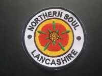 MOD SOUL SCOOTER PARKA MUSIC SEW / IRON ON PATCH:- NORTHERN SOUL (b) LANCASHIRE