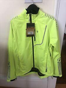 New-Old-Stock BONTRAGER Commuter Stormshell Jacket • Hi Viz Yellow • Size Medium