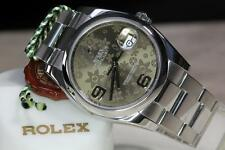 ROLEX MENS STAINLESS STEEL, DATEJUST 116200, FLORAL DIAL, PAPERS! Z SERIAL 2007