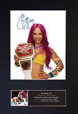 More details for #707 sasha banks reproduction signature/autograph mounted signed photograph a4