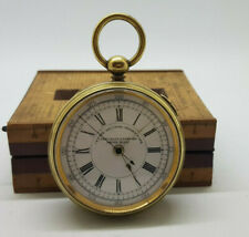RARE ANTIQUE SPLIT SECOND GOLD PLATED POCKET WATCH 55 MM