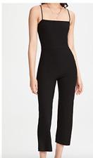 NEW $118 Reformation Kelsi Black Ribbed Sleeveless Jumpsuit XL