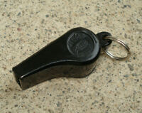 Vintage ACME Black Plastic Whistle PATENTED Made In England 1 7/8""