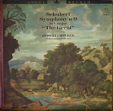 SCHUBERT: Symphony No. 9-NM1961LP OTTO KLEMPERER/PHILHARMONIA ANGEL BLUE LABEL