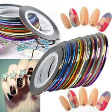 Beauty Gold and Silver Fine Paper Strips Self-adhesive DIY Nail Art  Stickers