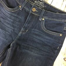 Diane Gilman Straight Leg Size 6 Dark Wash Denim Jeans Cotton Blend