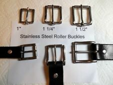 "Stainless Steel Roller Buckles, 1""__1 1/4""_1 1/2"" for leather belts collars tack"