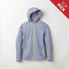 NIKE WOMENS ALLOVER FLASH REFLECTIVE 3M HOODED RUNNING JACKET SIZE S TECH NSW