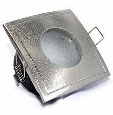 Bad Einbaustrahler Aqua Square IP65 LED GU10 3W 5W 7W HV Feuchtraum Strahler