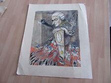 dessin russe signé et aquarelle 1995