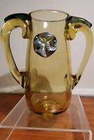 Christopher Ries Art Glass Vase Signed Dated 1973