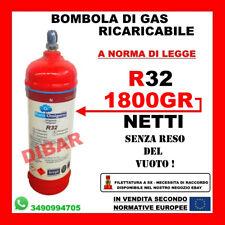 BOMBOLA DI GAS REFRIGERANTE R32 2,5 KG NET 1800 GR RICARICABILE SENZA RESO VUOTO
