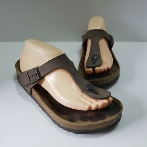 Birkenstock Women's Gizeh Thong Sandals Golden Brown Germany EUR 39 US 8