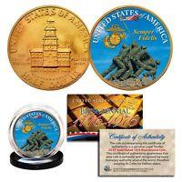 IWO JIMA *US Marines* 24K Gold Plated 1976 Bicentennial JFK Half Dollar US Coin