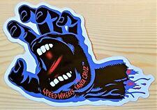 "Santa Cruz Skateboard Sticker, Dealer Window Label Screaming Hand  6-1/4"""