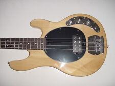 Glen Burton Rock 4 String Electric Bass Guitar with Gig Bag Natural Wood