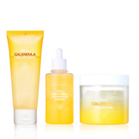 [April Skin] Real Calendula Skincare Trio- Peel Off Pack /  Essence/ Peeling Pad