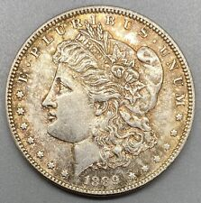 1889 Morgan Silver Dollar With Beautiful Gold Toning