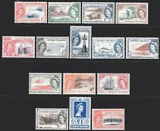 Cayman Islands 1953 - 59 Pictorial Definitives set of 15 Mint Unhinged