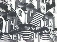 1976 M. C. ESCHER CALENDAR LITHOGRAPH PAGE, CONCAVE AND CONVEX