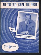 All the Way Round The World 1956 Frank Sinatra Sheet Music