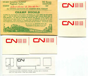 RARE BRASS CHAMP DECALS HC-604 CN CANADIAN NATIONAL PIGGYBACK TRAILER HO