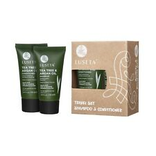 LUSETA TEA TREE&ARGAN OIL SHAMPOO&CONDITIONER 4 OILY HAIR FLAKY SCALP 1.01OZ SET