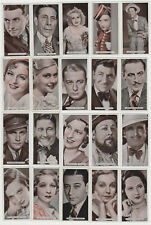 Lot of 26 different 1934 Ardath Famous Film Stars Tobacco Cards - Many Hi Grade