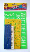Large Lettering Stencils Set of 4 Letters Alphabet Number Stencil Craft Guide