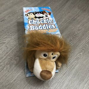 """Chuckle Buddies Lion 14"""" Plush Motion Activated Rolling Laughing Electronic Toy"""