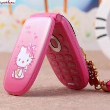 Flip Unlocked Cell hello kitty Phone W88 Vibration 1.8''pretty Flashlight Small