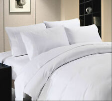 Duvet Cover Set Super King Size White Solid 1000 TC 100% Egyptian Cotton