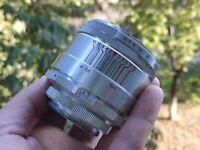 RARE Helios 44 2/58 SLR M39 KMZ Zenit 13 blades silver CHROME soviet lens