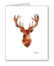 Brown Deer Note Cards With Envelopes