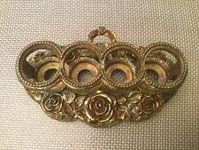 Vintage MATSON Gold Plated Lipstick Holder Roses