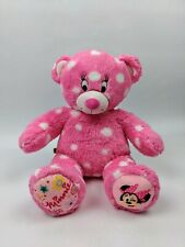 "Build A Bear 18"" Plush Pink Polka Dot Disney Minnie MouseStuffed Animal"