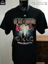 MLB Boston Red Sox VS Cardinals 2013 World Series Champions Spooky T-Shirt Sz XL