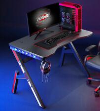 More details for professional gaming desk remote control led headphone holder k or z-steel frame