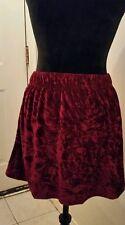 Merlot Burgundy Velvet Crush skirt women's XS nwt Jack