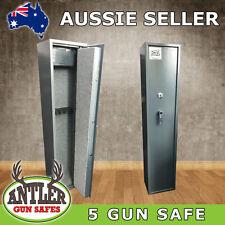 5 GUN SAFE KEY LOCK RIFLE SAFE - FULLY LINED